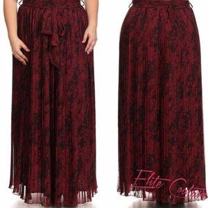 Abstract Full Length Skirt